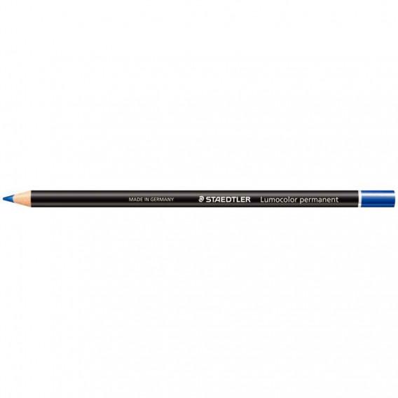 Crayon bois octogonaux permanent bleu