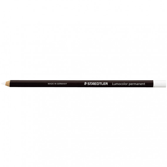 Crayon bois octogonaux permanent blanc