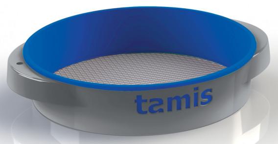 Tamis ABS poignées confort bleu ø 48 H. 10,5 cm maille 6