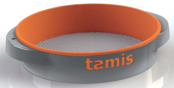 Tamis ABS poignées confort orange ø 48 H. 10,5 cm maille 12