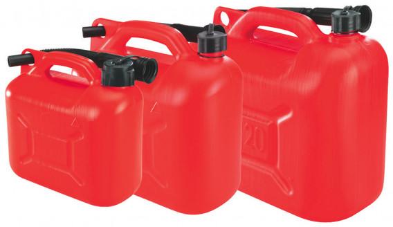 Jerrican plastique + bec verseur 20 litres