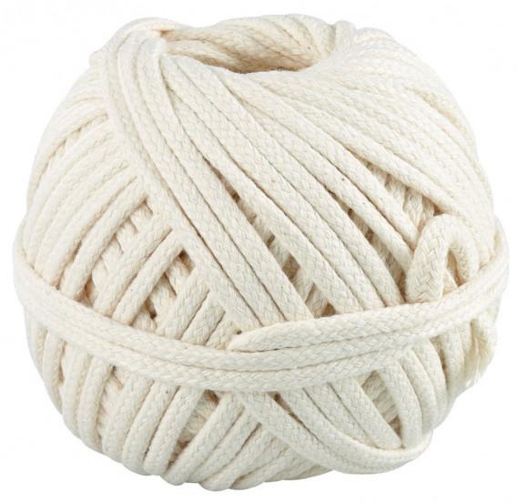 Corde tressée coton 100 Grs ø 3 mm x 20 m