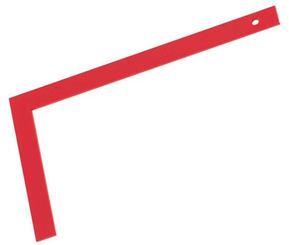 Equerre de maçon tout acier 60 x 30 cm