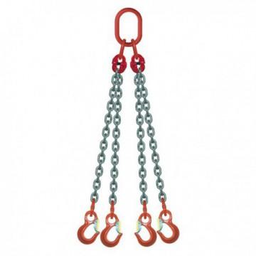Élingue chaîne 4 brins 2m/4,25T - 4 crochets standards